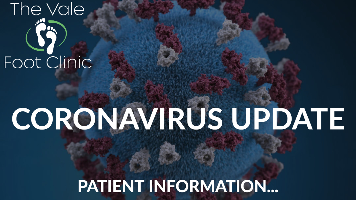 Novel Coronavirus Update – The Vale Foot Clinic