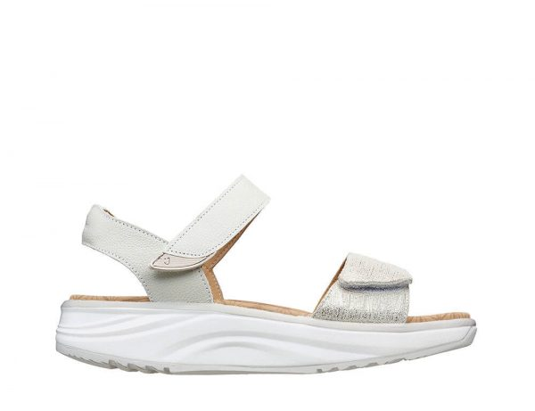 Joya Sandals - Flores Beige Metallic